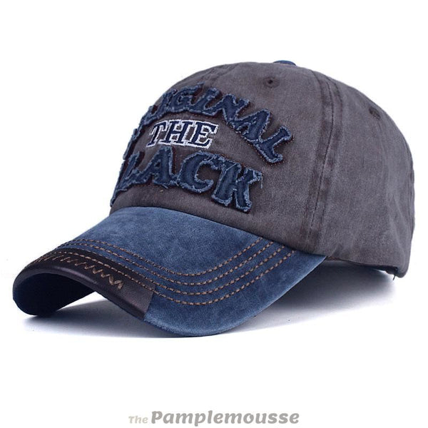 Men & Women Retro Vintage Denim Baseball Cap Letter Embroidery - Navy Coffee - Free Shipping - Fashion - Accessories - $11.90 | The