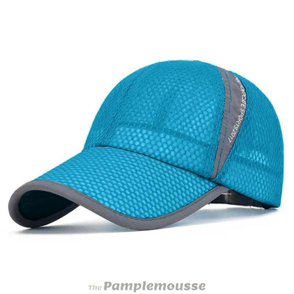 Men & Women Summer Sport Outdoor Breathable Quick Dry Mesh Baseball Cap Casual Sun Hat - Lake Blue - Free Shipping - Fashion - Accessories -