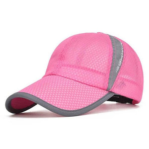 Men & Women Summer Sport Outdoor Breathable Quick Dry Mesh Baseball Cap Casual Sun Hat - Pink - Free Shipping - Fashion - Accessories -