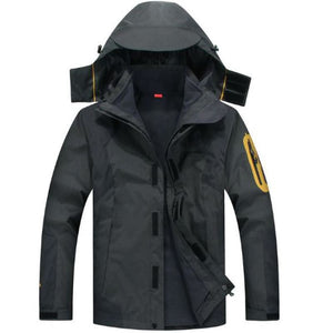 Mens New Top Quality 3-In-1 Waterproof Ski Jacket - Black / Xl - Free Shipping - Outdoor - $89.90 | The Pamplemousse