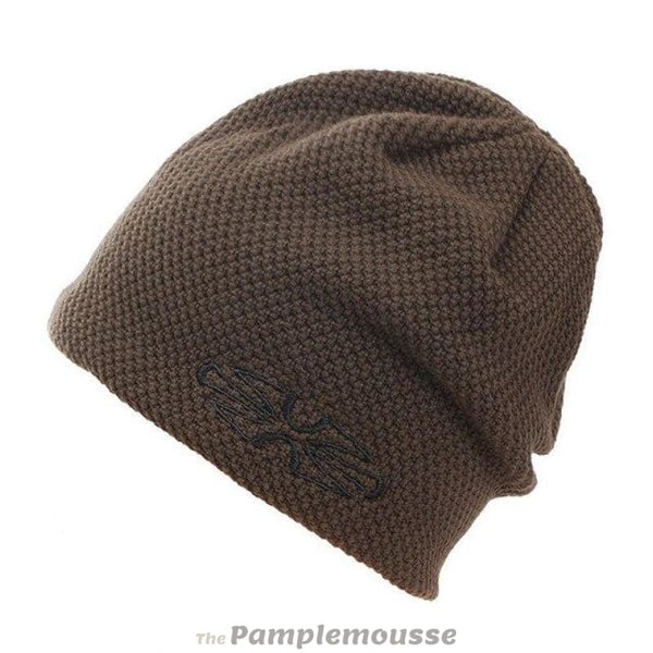 Mens Reversible Winter Hat Snowboard Ski Hat Hiking Beanie - Brown - Free Shipping - Outdoor - Accessories - $12.00 | The Pamplemousse