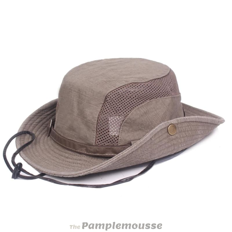 9fb748a9bb826 Mens Summer Cotton Outdoor Bucket Hat Army Boonie Jungle Hat Fishing Cap -  Free Shipping -