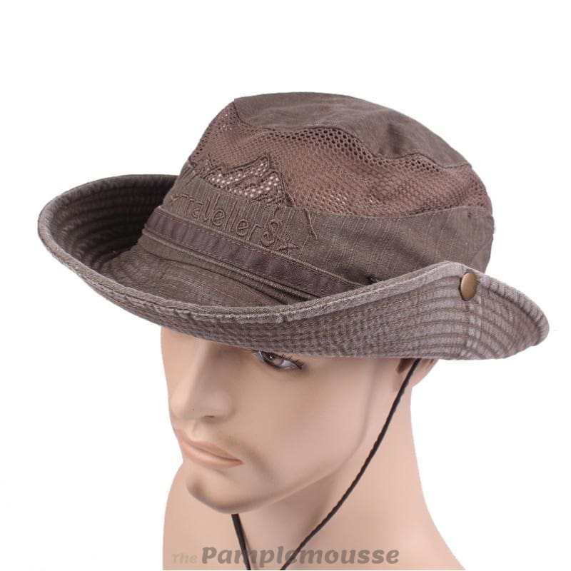 Mens Summer Cotton Outdoor Bucket Hat Army Boonie Jungle Hat Fishing Cap -  Free Shipping - de866a93353c