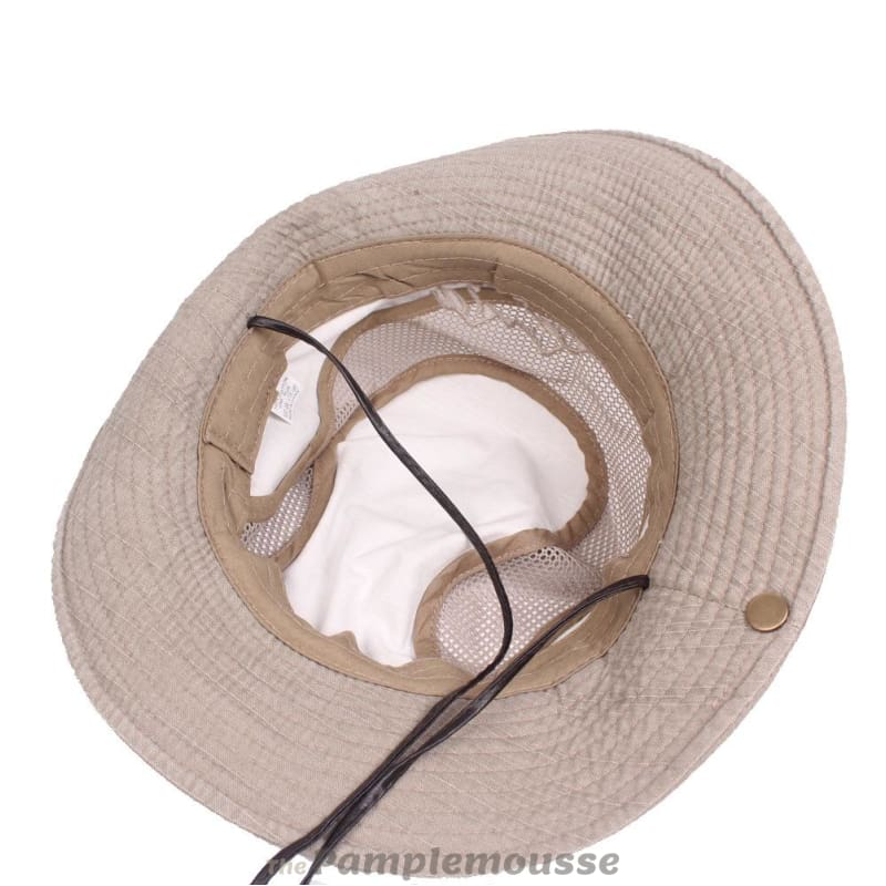 Mens Summer Cotton Outdoor Bucket Hat Army Boonie Jungle Hat Fishing Cap -  Free Shipping - e0b1bb31ca84