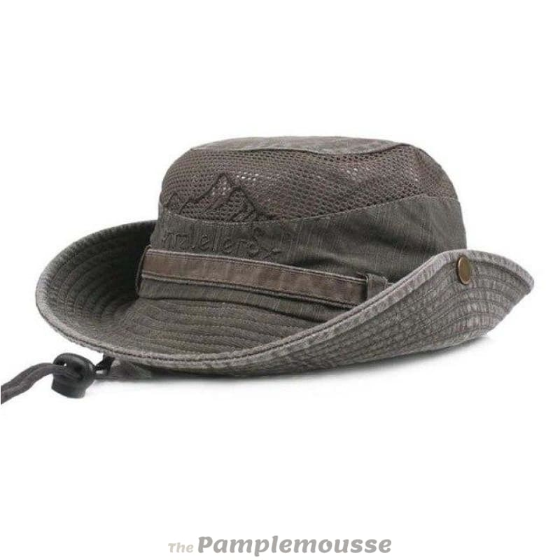 32e031387 Mens Summer Cotton Outdoor Bucket Hat Army Boonie Jungle Hat Fishing Cap
