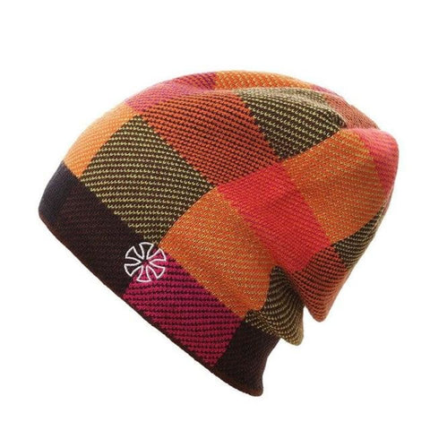 Mens Winter Sports Checkered Slouch Beanie Cap Warm Skiing Hat - C - Free Shipping - Outdoor - Accessories - $12.00 | The Pamplemousse