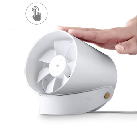 Mini Xiaomi Usb Powered Portable Cooling Fan Handheld Desktop Fan 2 Modes Smart Touch To Enjoy Whisper Quiet Soft Breeze Wind Cooler - Free