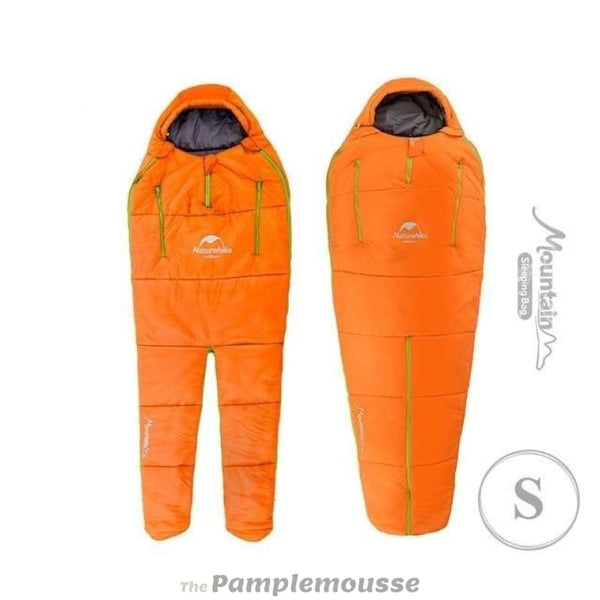 Mountain Sleeping Bag 1 Person 2 Seasons Special Shape Cotton Waterproof Sleeping Bag - Orange / S - Free Shipping - Outdoor - Gear - $89.00