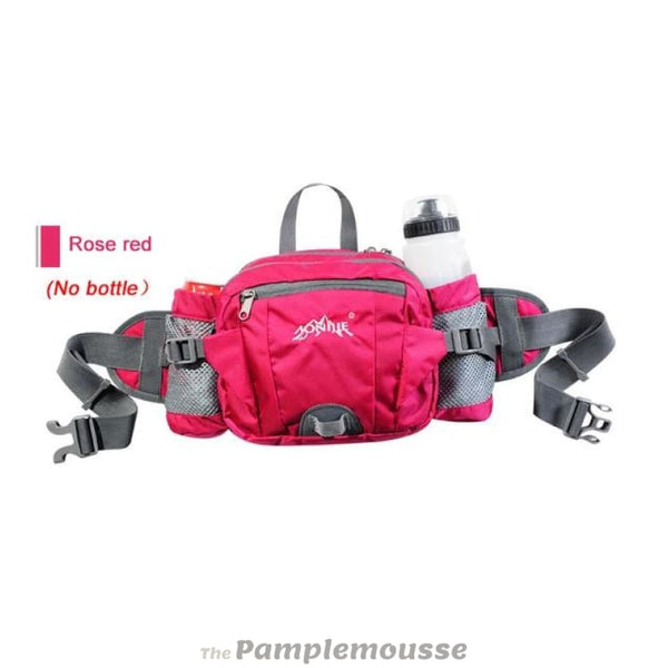 Multifunctional Running Belt Sports Waist Bag 6L Outdoor Leisure Riding Hiking Cycling Money Pouch - Rose Red - Free Shipping - Outdoor -