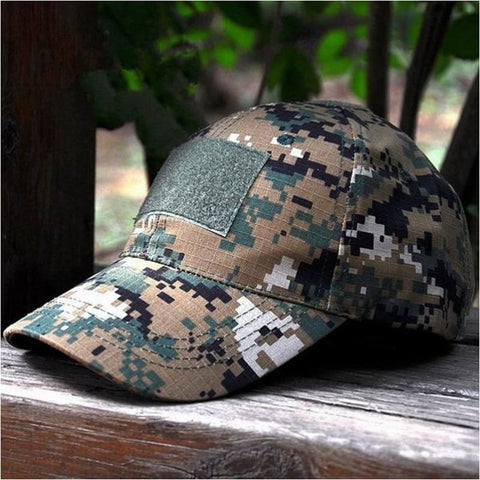 New Mens Tactical Baseball Cap Camouflage Military Hat Hiking Fishing Hunting Combat Paintball Cap - Woodland Digi - Free Shipping - Outdoor