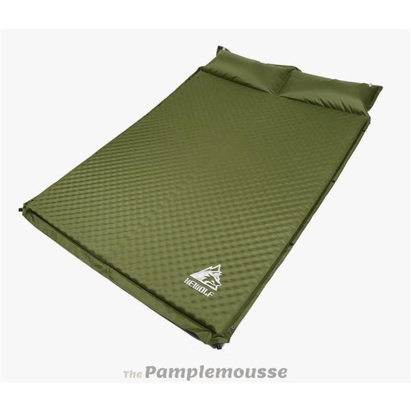 Outdoor 2 Person 5Cm Thick Automatic Inflatable Cushion Sleeping Pad Tent Camping Double Mattress - Army Green - Free Shipping - Outdoor -