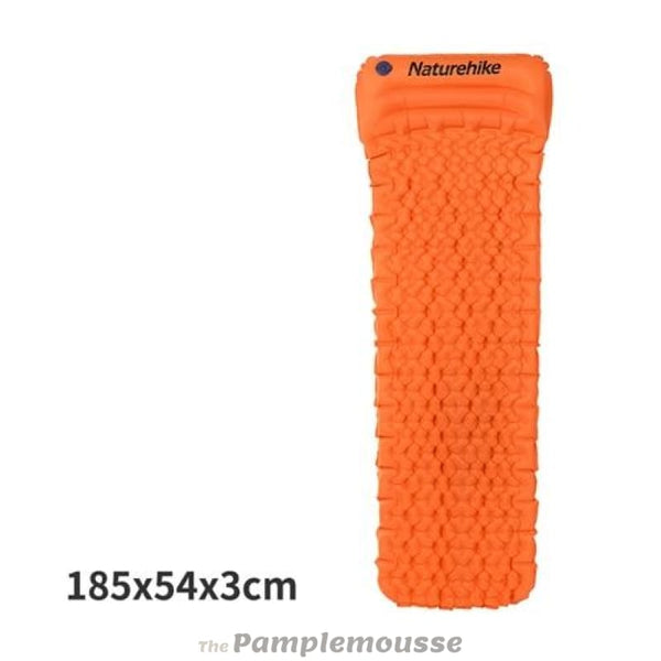 Outdoor Inflatable Cushion Sleeping Mat Fast Filling Air Moistureproof Camping Sleeping Pad With Pillow - Orange - Free Shipping - Outdoor -