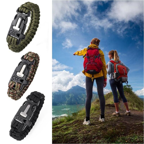 Outdoor Multi-Functional Survival Paracord Bracelet Camping Hiking Climbing Lifesaving Wristband - Free Shipping - Outdoor - Accessories -