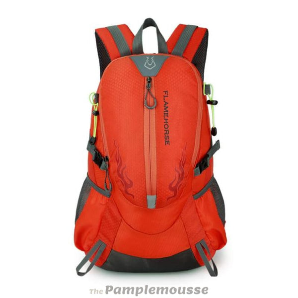 Outdoor Waterproof Nylon Hiking Backpack Unisex Camping Climbing Traveling Mountain Rucksack - Orange - Free Shipping - Accessories - Bags -