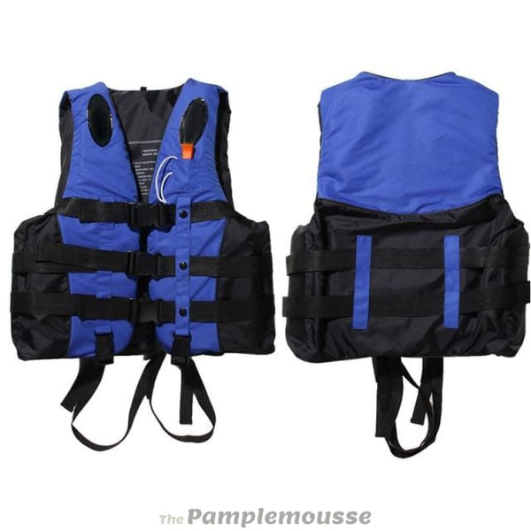Polyester Adult Life Vest Safety Jacket For Water Sports Swimming Boating Rafting Sailing Life Vest With Whistle - Blue / S - Free Shipping