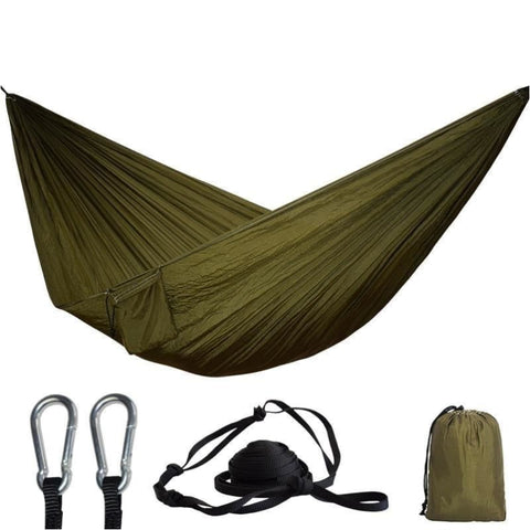 Portable Outdoor 24 Colors 2 Person Parachute Hammock Camping Hiking Survival Garden Leisure Hammock - Free Shipping - Outdoor - Gear -