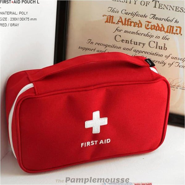 Portable Outdoor Waterproof Eva First Aid Kit For Family Or Camping Travel Emergency Medical Treatment First Aid Kit - Red - Free Shipping -