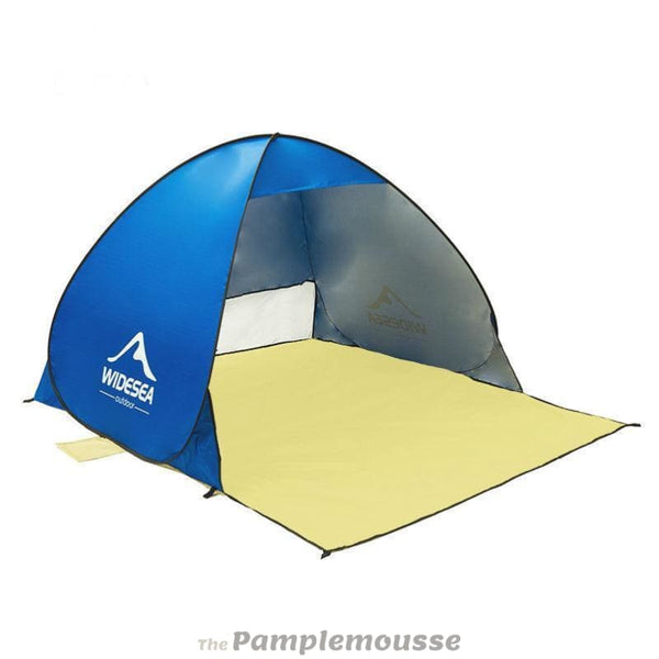 Quick Automatic Beach Tent Pop Up Open 1-2Person Anti Uv Sun Shelter - Navy Blue - Free Shipping - Outdoor - Gear - $49.00 | The