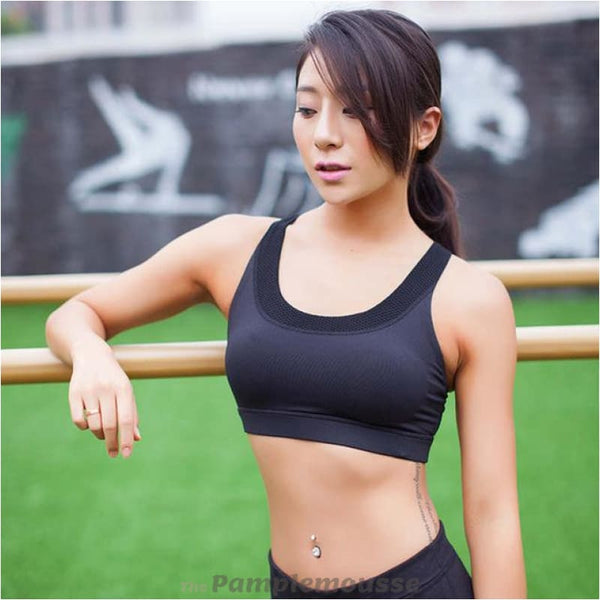 Sexy Push Up Sports Bra For Women Fitness Yoga Top Running And Gym Sexy Sports Brassiere - Black / L - Free Shipping - Sports - Clothing -