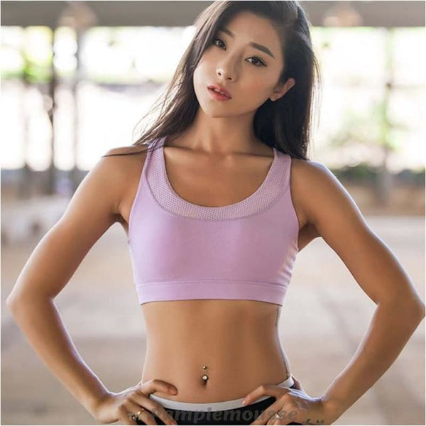 Sexy Push Up Sports Bra For Women Fitness Yoga Top Running And Gym Sexy Sports Brassiere - Purple / L - Free Shipping - Sports - Clothing -