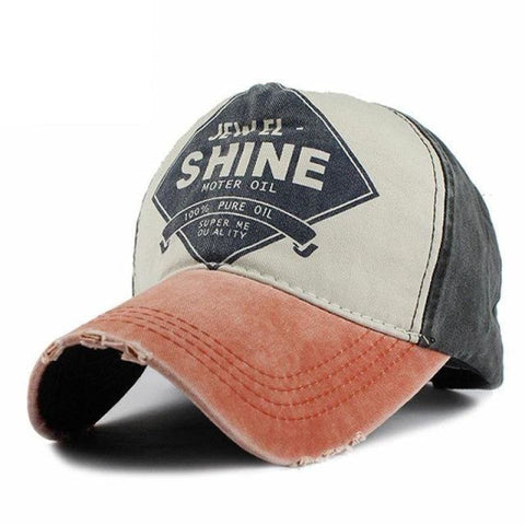 Shine Vintage Worn Denim Classic Colorful Baseball Cap - Orange - Free Shipping - Fashion - Accessories - $9.90 | The Pamplemousse