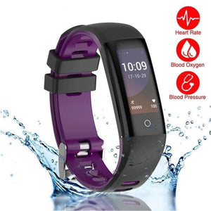 Smart Bracelet Fitness Tracker Gps Track Record Blood Pressure Heart Rate Monitor Bluetooth For Android And Ios - Free Shipping - Sports -
