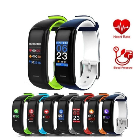 Smart Wristband Fitness Activity Tracker Heart Rate Monitor Blood Pressure Bracelet Step Walking Sleep Counter Colorful Touch Screen For Ios
