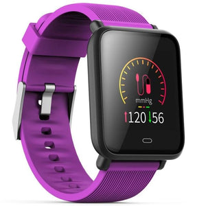 Smartwatch Ip67 Waterproof Fitness Sports With Heart Rate Blood Pressure Monitor Functions For Android / Ios - Purple - Free Shipping -