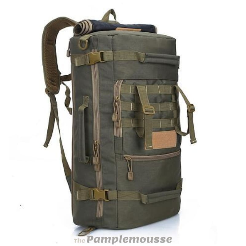 Top Quality 50L New Military Tactical Backpack Camping Mountaineering  Hiking Rucksack Travel Backpack - Army Green