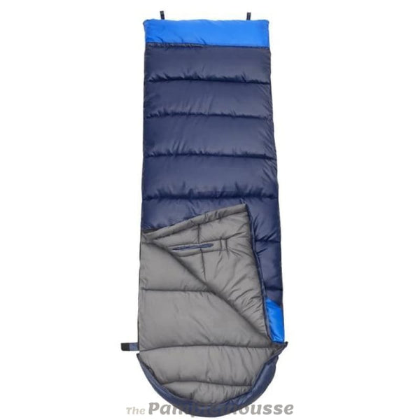 Ultralight Camping Cotton Splicing Double Sleeping Bag - Blue / Left / 1350G - Free Shipping - Outdoor - Gear - $45.00 | The Pamplemousse