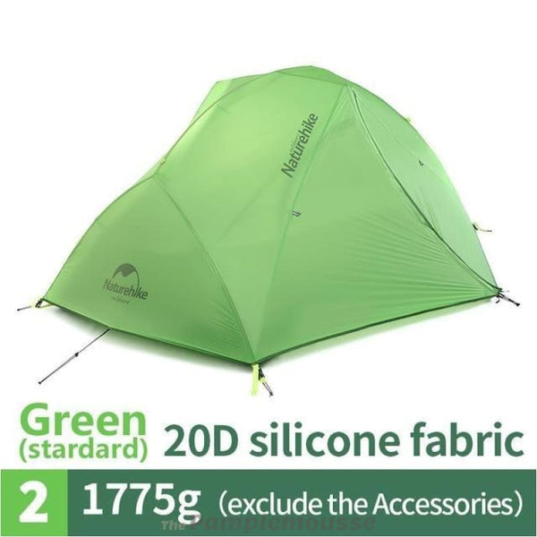 Ultralight Waterproof 2 Person 4 Season Camping Tent 20D Nylon Fabric Double Layers - Green - Free Shipping - Outdoor - Gear - $199.00 | The