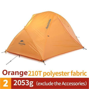 Ultralight Waterproof 2 Person 4 Season Camping Tent 20D Nylon Fabric Double Layers - Orange - Free Shipping - Outdoor - Gear - $199.00 |