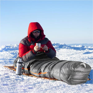 Ultralight Winter Mummy White Duck Down Sleeping Bag Cold Weather -10-20 Degree Camping Bag - Free Shipping - Outdoor - Gear - $199.00 | The