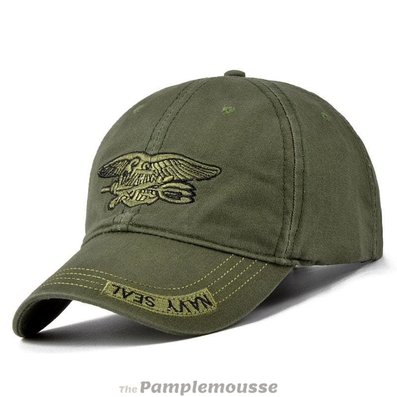 Unisex Camouflage Army Military Adjustable Baseball Cap Hunting Outdoor Hat  - Army Green - Free Shipping a0fb2345004e