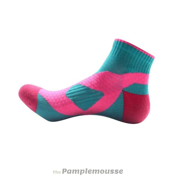 Unisex Nylon Cotton Sport Socks Running Cycling Fitness Breathable Ankle Socks - Rose Blue - Free Shipping - Sports - Clothing - $7.00 | The