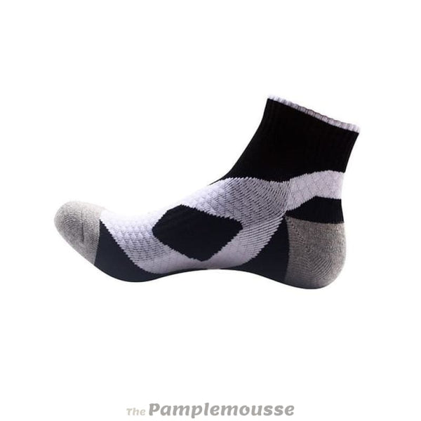 Unisex Nylon Cotton Sport Socks Running Cycling Fitness Breathable Ankle Socks - White Black - Free Shipping - Sports - Clothing - $7.00 |
