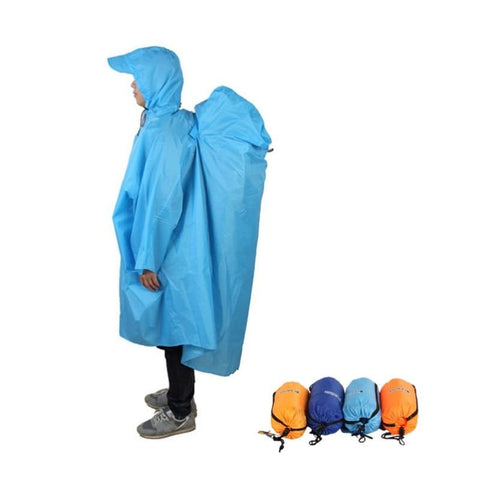 Unisex Outdoor Hiking Raincoat Jacket Cover One-Piece Rain Cape Poncho - Free Shipping - Outdoor - Clothing - $19.00 | The Pamplemousse