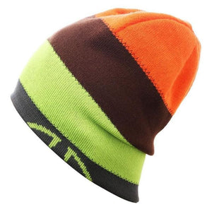 Unisex Striped Premium Fitted Slouch Beanie Winter Sports Skiing Hat For Men And Women - E - Free Shipping - Outdoor - Accessories - $14.00