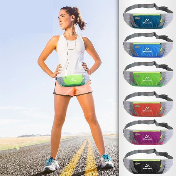 Unisex Training Waist Bag Adjustable Running Smartphone Waist Pack - Hiking Fitness Gym Jogging Belt - Green - Free Shipping - Outdoor -