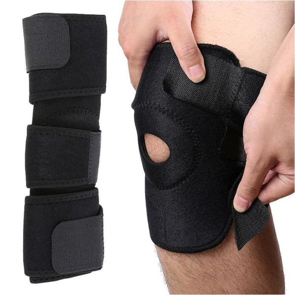 Velcro Knee Support Black Knee Strap Outdoor Exercise Elastic Adjustable Knee Support Brace - Free Shipping - Sports - Accessories - $9.00 |