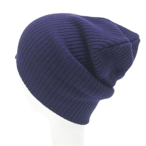 Warm Wool Unisex Beanie Knit Cap Fashion Casual - Dark Blue - Free Shipping - Accessories - $6.90 | The Pamplemousse