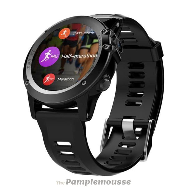 Waterproof 1.39Inch Smart Watch Android 4.4 Bluetooth 4.0 3G Wifi Gps Sim Smartwatch For Iphone And Android Phones - Black - Free Shipping -