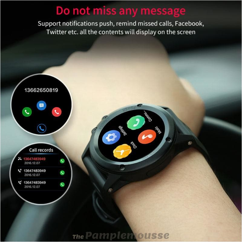 Waterproof 1 39Inch Smart Watch Android 4 4 Bluetooth 4 0 3G