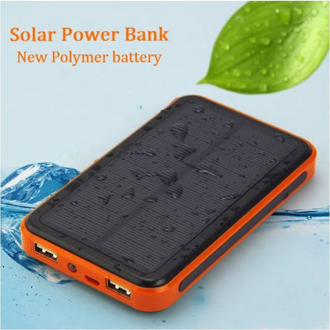 Waterproof 10000 Mah Solar Power Bank Outdoor Portable Dual Usb Solar Phone Charger - Free Shipping - Outdoor - Electronics - $19.00 | The