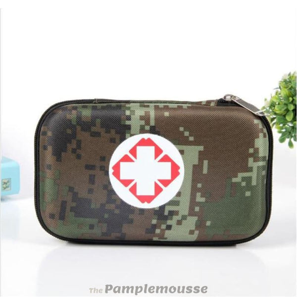 Waterproof Military Camouflage First Aid Kit Home Necessity Emergency Bag Outdoor Travel Portable Medical Drug Pack - Camouflage 1 - Free