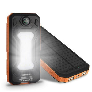 Waterproof Portable Solar Power Bank Dual Usb Solar-Powered 20000 Mah Phone Charger - Free Shipping - Outdoor - Electronics - $23.00 | The