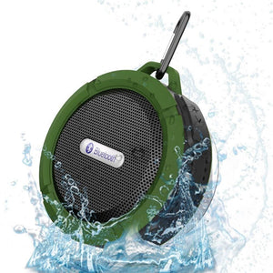 Waterproof Portable Wireless Stereo Bluetooth 5W Music Speaker Suction Cup Sd Tf Card For Smartphone Tablet Laptop - Green - Free Shipping -