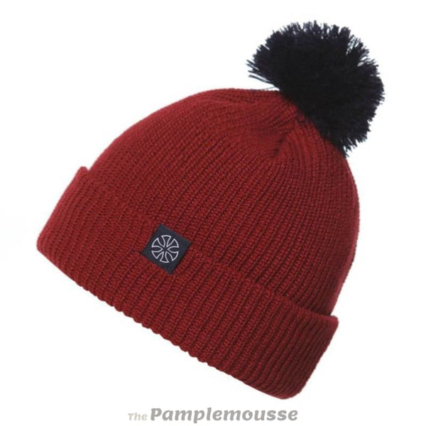Winter 5 Colors Pom Beanie Snowboard Ski Hat Mountaineering Cap Hat - Red - Free Shipping - Outdoor - Accessories - $12.00 | The