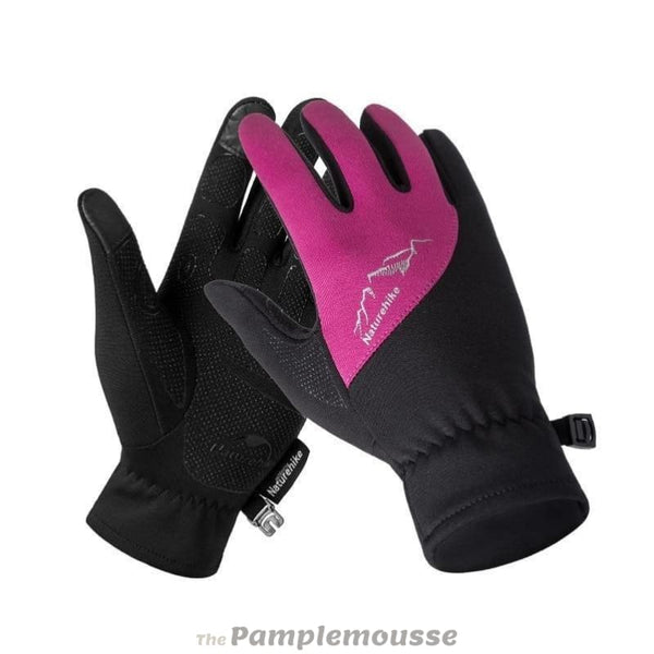 Winter Outdoor Sports Gloves Touch Screen Warmest Gloves Full Finger Gloves - Rose Red / S - Free Shipping - Outdoor - Accessories - $19.00