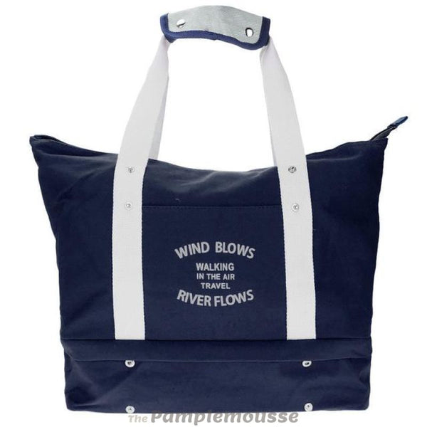 Women Canvas Duffel Sports Bag Outdoor Shoes Compartment Travel Shoulder Handbag - Navy Blue - Free Shipping - Accessories - Bags - $34.00 |
